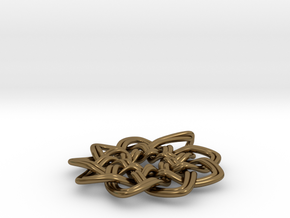 Woven Pendant in Polished Bronze