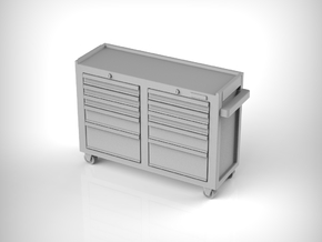 Rolling Tool Cabinet 01. 1:87 Scale (HO) in Smooth Fine Detail Plastic