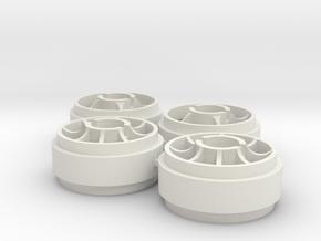 llanta delantera MiniZ rueda Slot et1 in White Natural Versatile Plastic