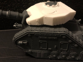 Imperial Battle Tank Turret in White Natural Versatile Plastic