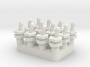 Toggle Switch - Multiples in White Natural Versatile Plastic
