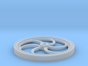 Six Spoke Curved Flywheel in Smooth Fine Detail Plastic