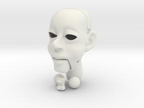 Puppet 002 in White Natural Versatile Plastic