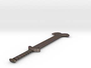 Two handed Sword  in Polished Bronzed-Silver Steel