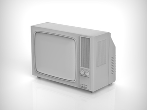 Vintage TV  in scale 1:24 in Smooth Fine Detail Plastic