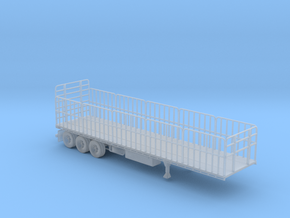 1973 AUSTRALIAN Maxitrans Freighter Trailer 1:160  in Smooth Fine Detail Plastic