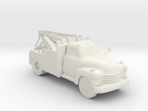 1949 Chevy  Wrecker 1:160 scale in White Natural Versatile Plastic