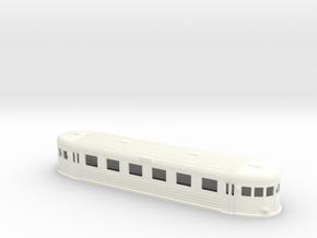 Swedish wagon for railcar UCo6 H0-scale in White Processed Versatile Plastic