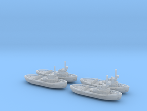051E Project 498 Tug 1/1250 Set of 4 in Smooth Fine Detail Plastic