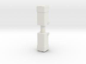 Waste Container Bin (x2) 1/48 in White Natural Versatile Plastic