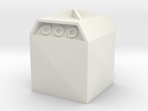 Glass Recycling Container 1/48 in White Natural Versatile Plastic