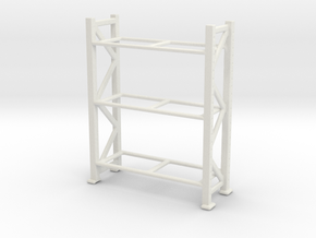 Warehouse Rack 1/76 in White Natural Versatile Plastic