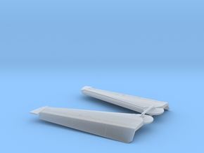 F-14 Wing Flaps Down in Smooth Fine Detail Plastic