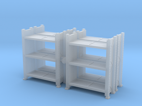 Warehouse Rack (x4) 1/120 in Smooth Fine Detail Plastic