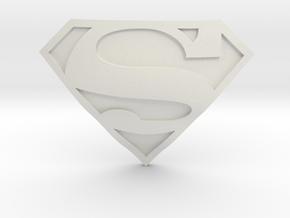 Superman Symbol   CCBS Range in White Natural Versatile Plastic