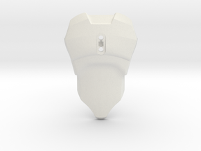 Smooth CCBS Torso   Without Belt in White Natural Versatile Plastic
