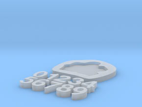 Digits Puzzle in Smooth Fine Detail Plastic