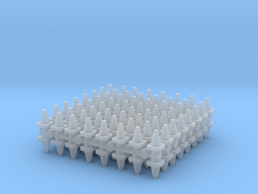 Traffic Cones (x128) 1/350 in Smooth Fine Detail Plastic