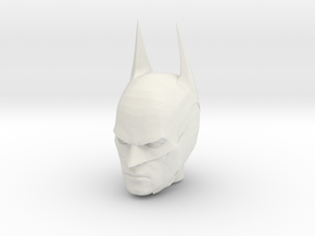 Batman Arkham Knight Head   CCBS Scale in White Natural Versatile Plastic
