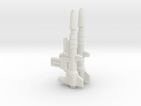 TF Cyberverse Skark Blaster 2 Pack in White Natural Versatile Plastic