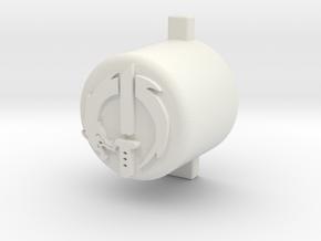 genji button  in White Natural Versatile Plastic