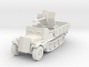 Sdkfz 10/4 B Flak 38 Armoured 1/120 in White Natural Versatile Plastic