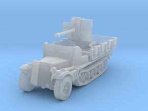 Sdkfz 10/4 B Flak 38 Armoured 1/200 in Smooth Fine Detail Plastic