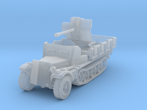 Sdkfz 10/4 B Flak 38 Armoured 1/285 in Smooth Fine Detail Plastic