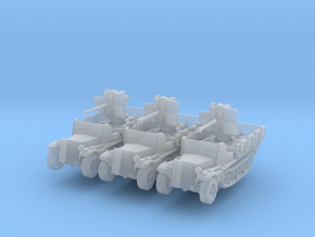 Sdkfz 10/4 B Flak 38 Armoured (x3) 1/200 in Smooth Fine Detail Plastic