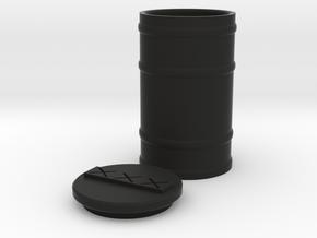 TEWOJ Barrel and Lid Set in Black Natural Versatile Plastic