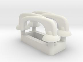 Door Handle - Multiples in White Natural Versatile Plastic