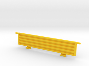 Cargo bed back wall in Yellow Processed Versatile Plastic