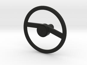 Steering Wheel in Black Natural Versatile Plastic