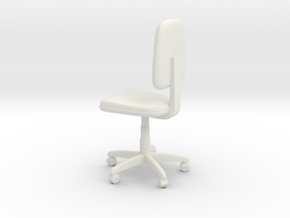 Office Swivel Chair in White Natural Versatile Plastic