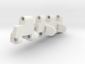 1/6 scale Tiger 1 track link in White Natural Versatile Plastic