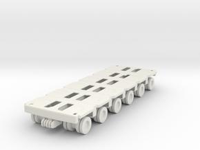 Goldhofer SPMT Modular Trailer 1/87 in White Natural Versatile Plastic