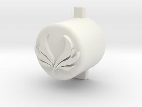 Mercy Button in White Natural Versatile Plastic