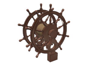 1/72 Ship's Wheel (Helm) for Frigates, Sloops, etc in Smoothest Fine Detail Plastic