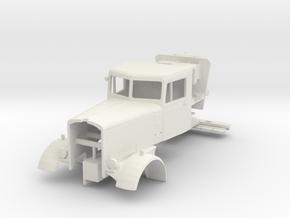 1/43 scale Duel movie Peterbilt cab in White Natural Versatile Plastic