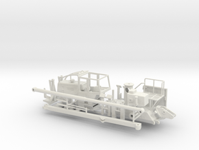 1/50th Skidder Off Road Utility Bucket vehicle in White Natural Versatile Plastic