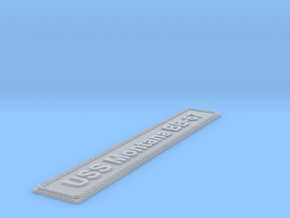 Nameplate USS Montana BB-67 (10 cm) in Smoothest Fine Detail Plastic