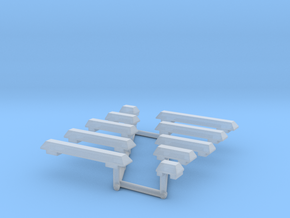 1/87th Wedge Shaped Emergency Light Bar Set in Smooth Fine Detail Plastic