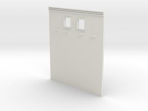 Ho Scale Rialto upper wall in White Natural Versatile Plastic