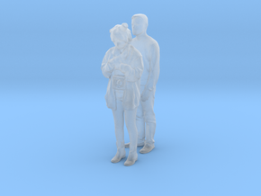 Printle C Couple 555 - 1/87 - wob in Smooth Fine Detail Plastic