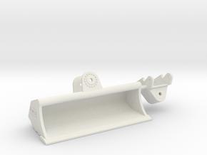 QC80 Grabenräumlöffel / grading bucket 3m in White Natural Versatile Plastic: 1:50
