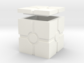 Hollow Iconic Box, Squared in White Processed Versatile Plastic