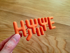 Scientific Fridge Magnets: TISE in Orange Processed Versatile Plastic