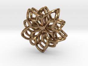 Flower Loops Pair in Natural Brass