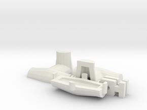 HO/1:87 Dolos 3m mould kit in White Natural Versatile Plastic