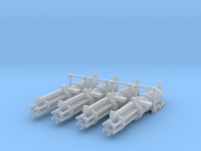 Z-6 rotary blaster cannon Set of 4 3.75 scale in Smooth Fine Detail Plastic